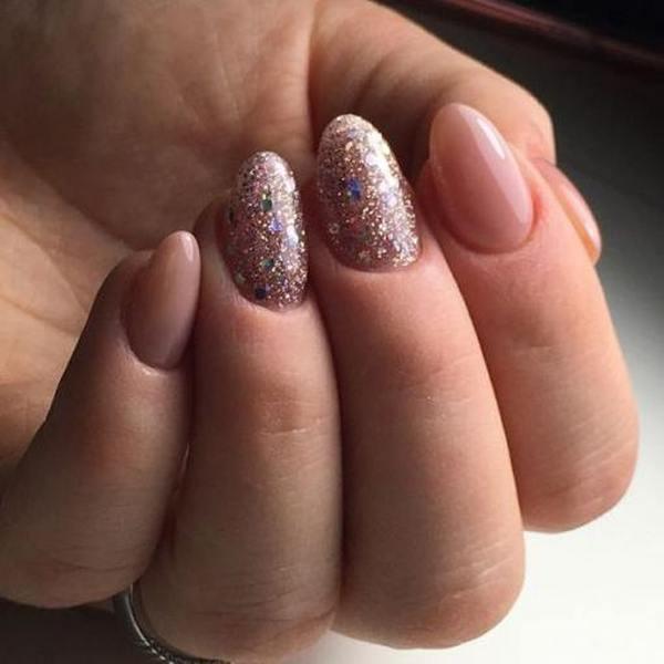 Форма ногтей миндаль на коротких ногтях два