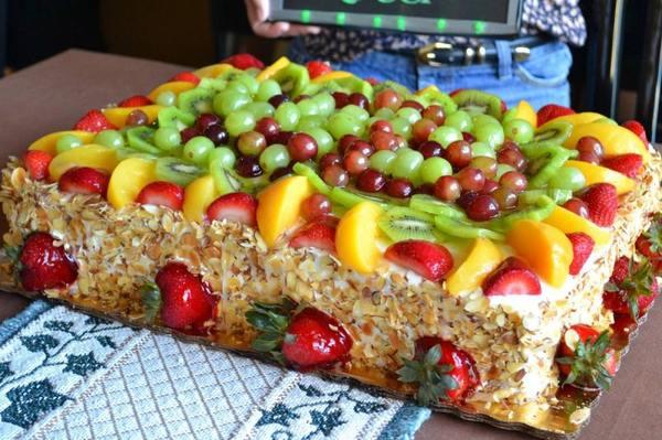 Как украсить торт фруктами – 6 вариантов украшения торта в домашних условиях